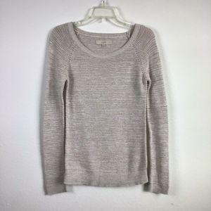 LOFT Oatmeal Raglan Sleeve  Pullover Sweater